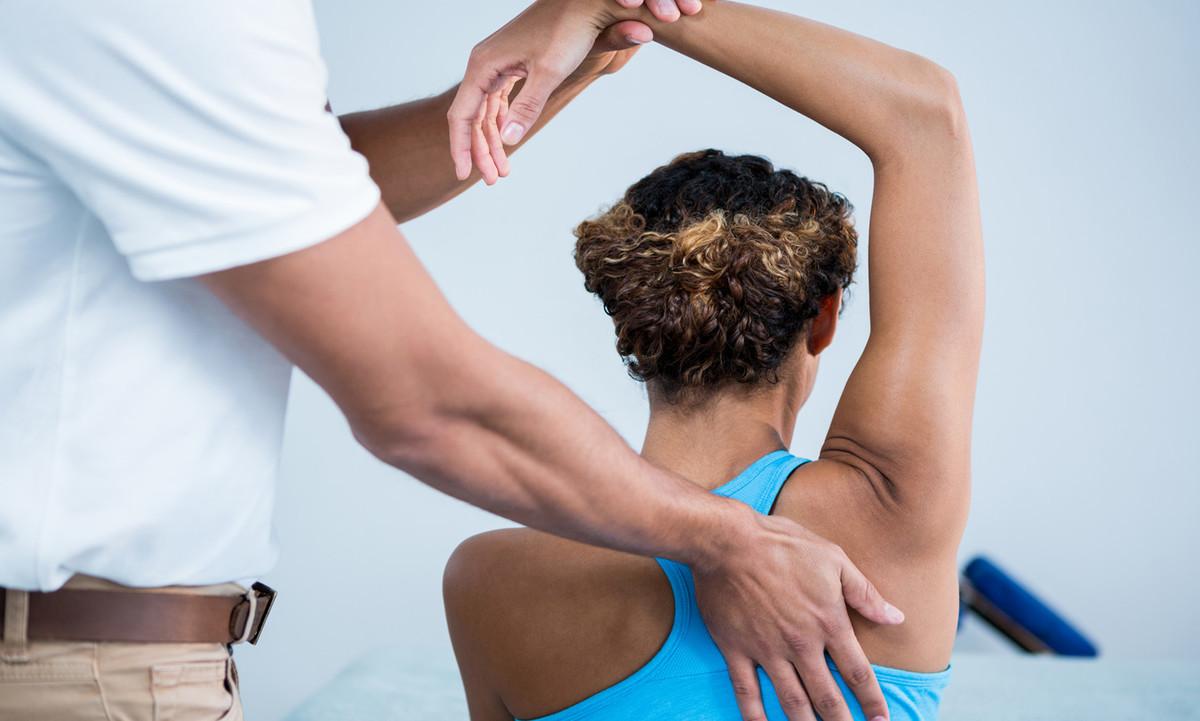 Physical therapist adjustment