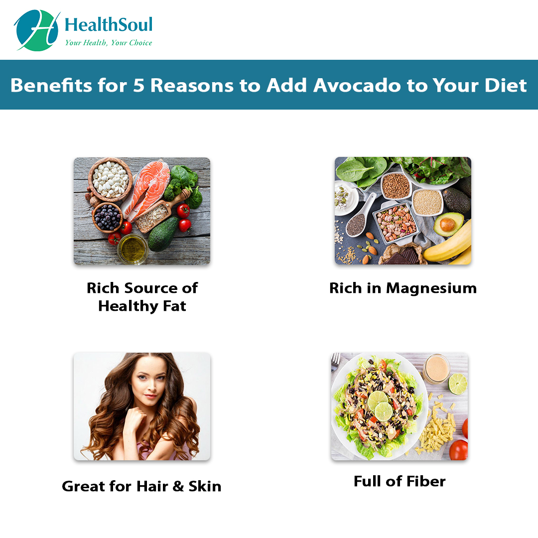 Benefits for 5 Reasons to Add Avocado to your Diet