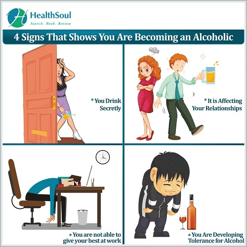 4 Signs that shows you are becoming an Alcoholic | HealthSoul
