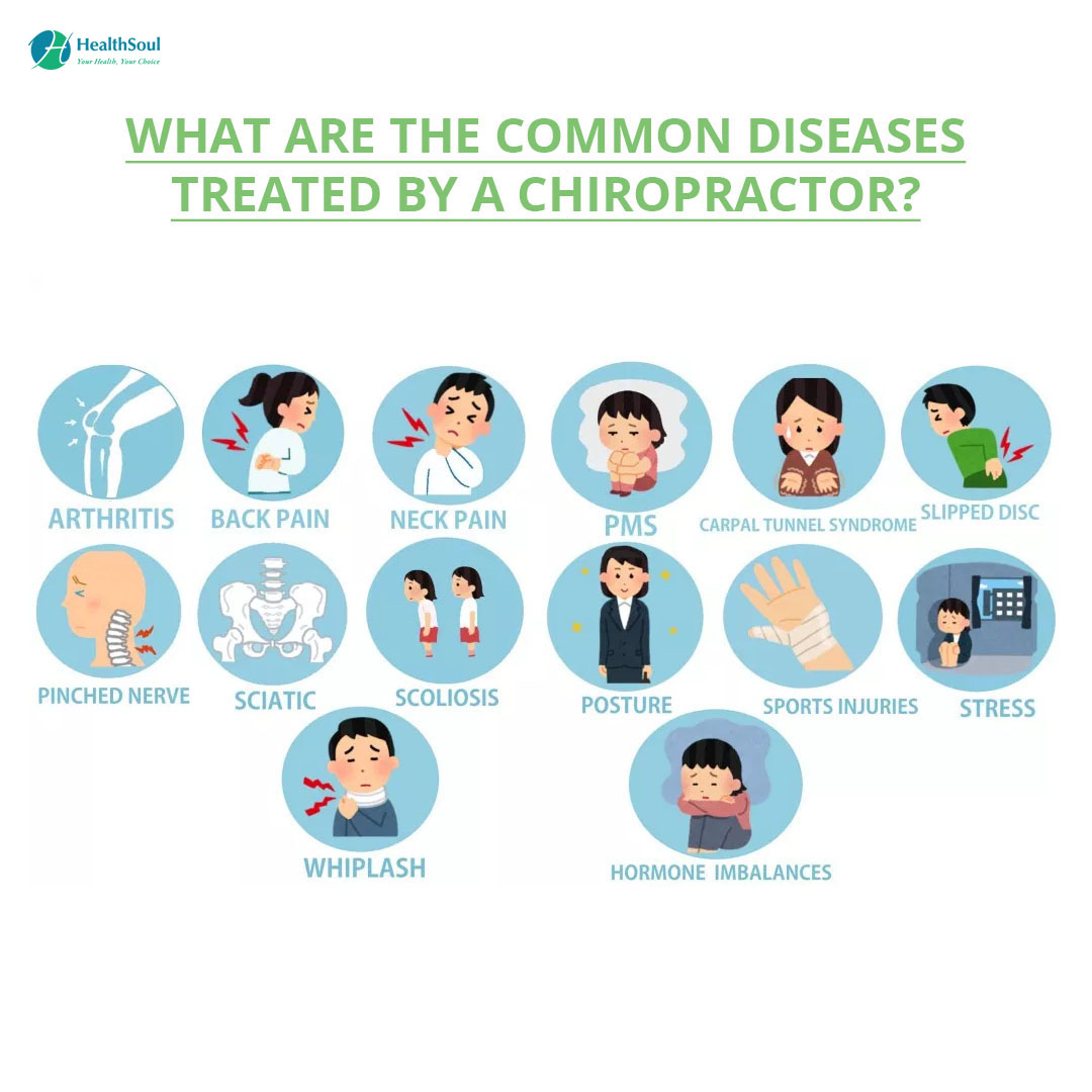 What are the common diseases treated by Chiropractor