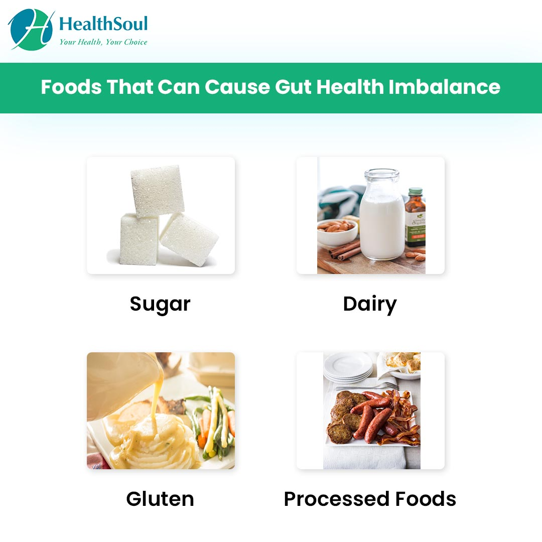 Foods that can cause gut health Imbalance