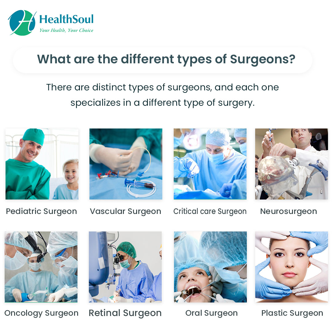 What are the different types of Surgeons?