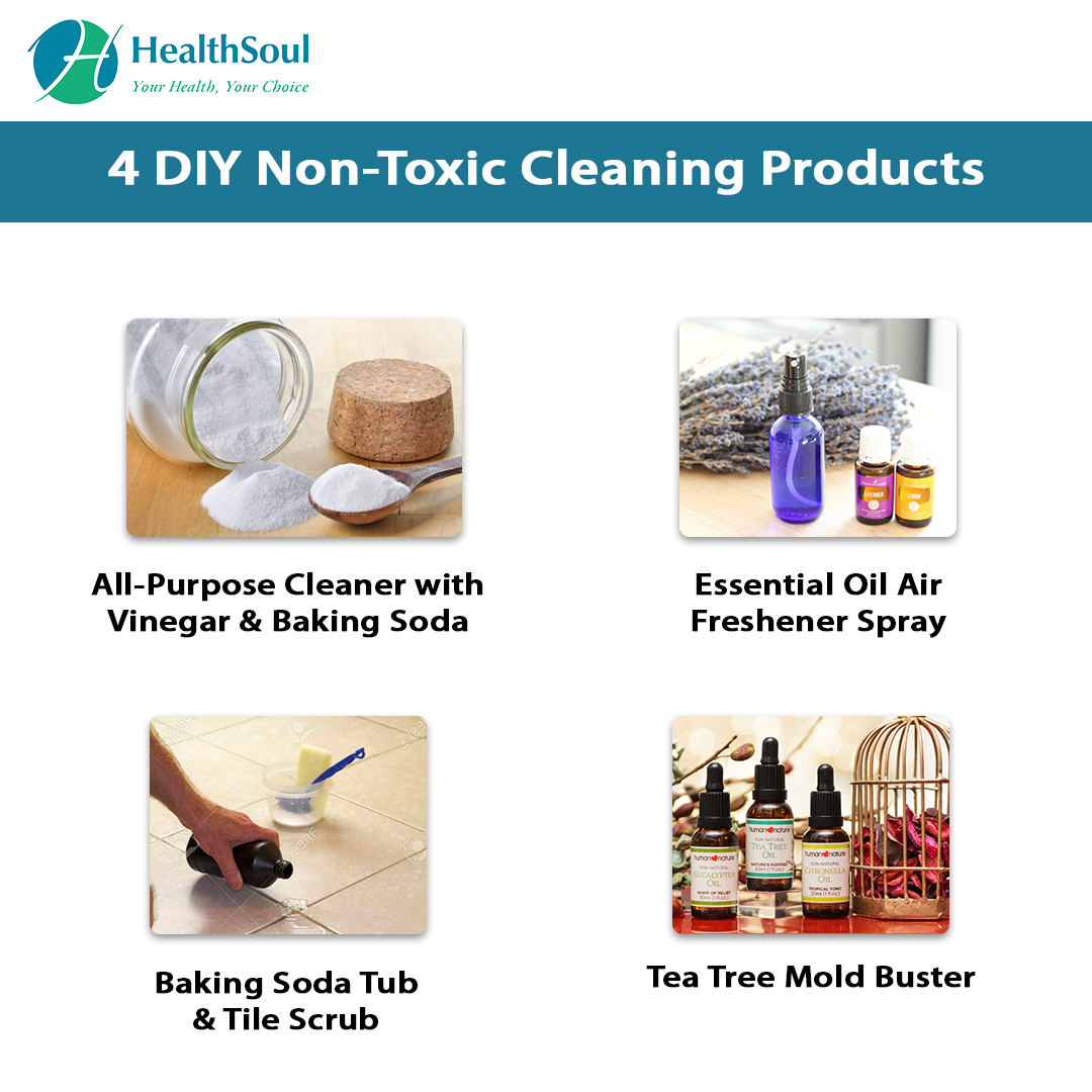 4 DIY Non-Toxic Cleaning Products | HealthSoul