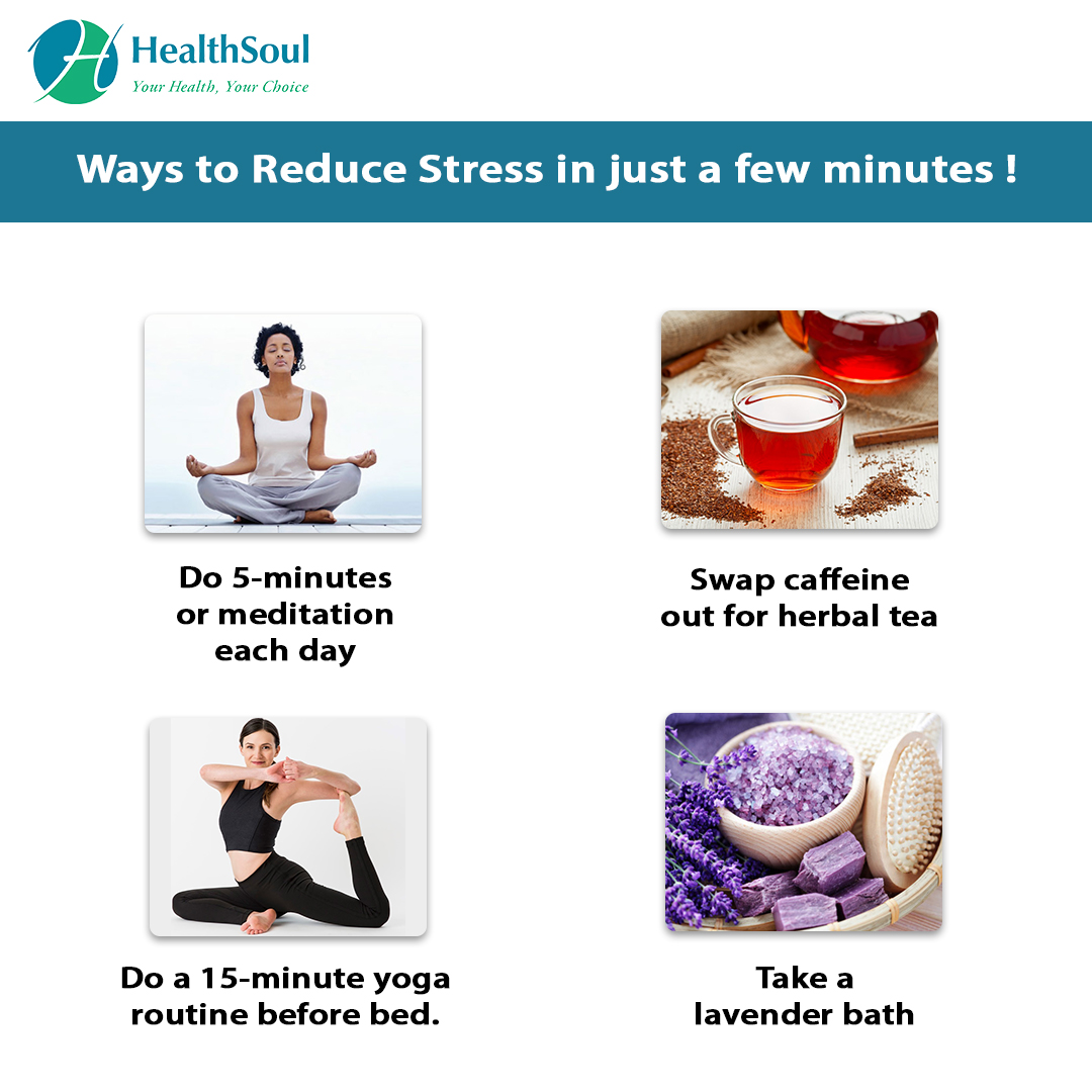 Ways to Reduce Stress in just a few Minutes!