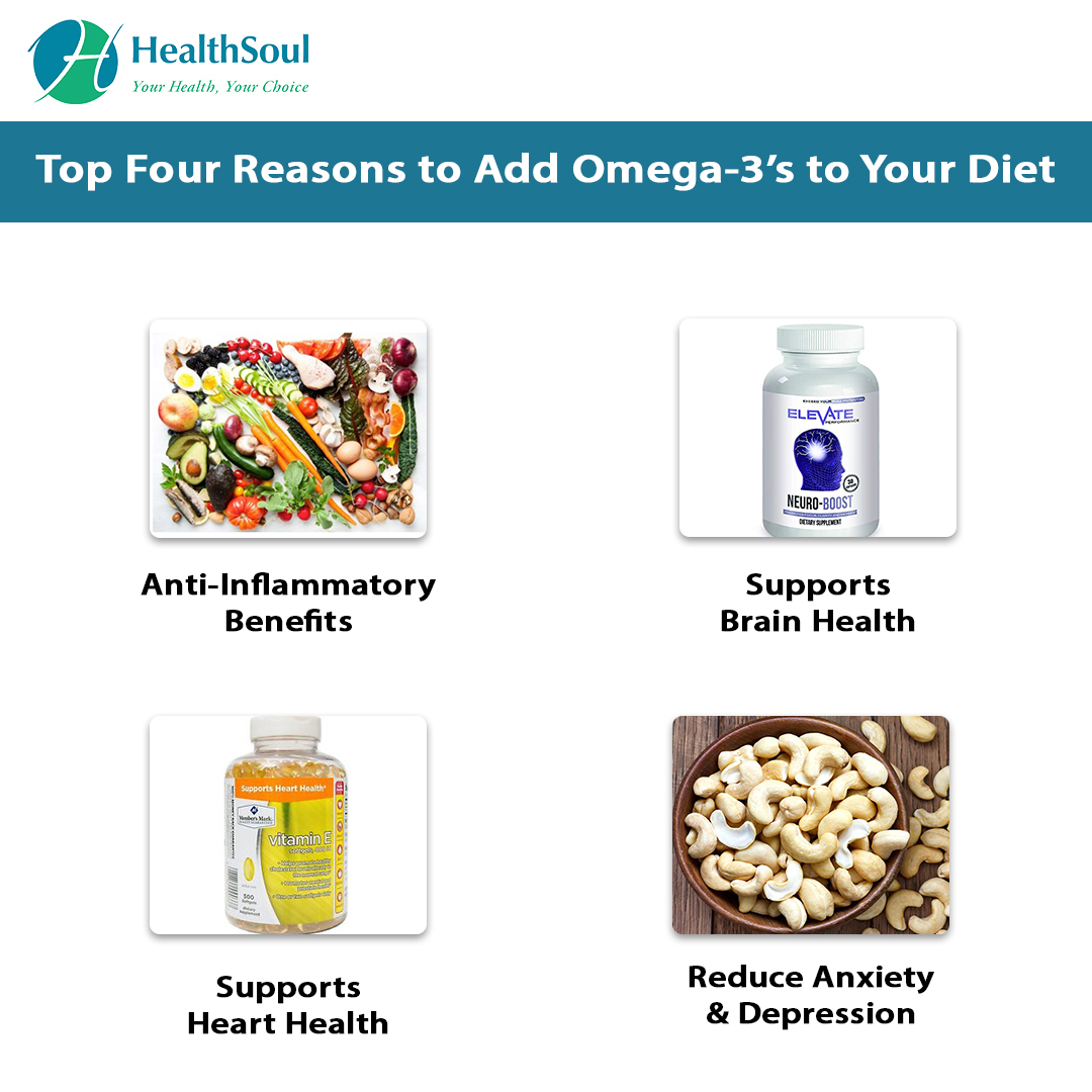 Top Four Reasons to Add Omega-3's to your Diet