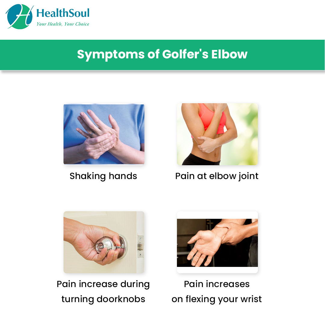 Symptoms of Golfer's Elbow