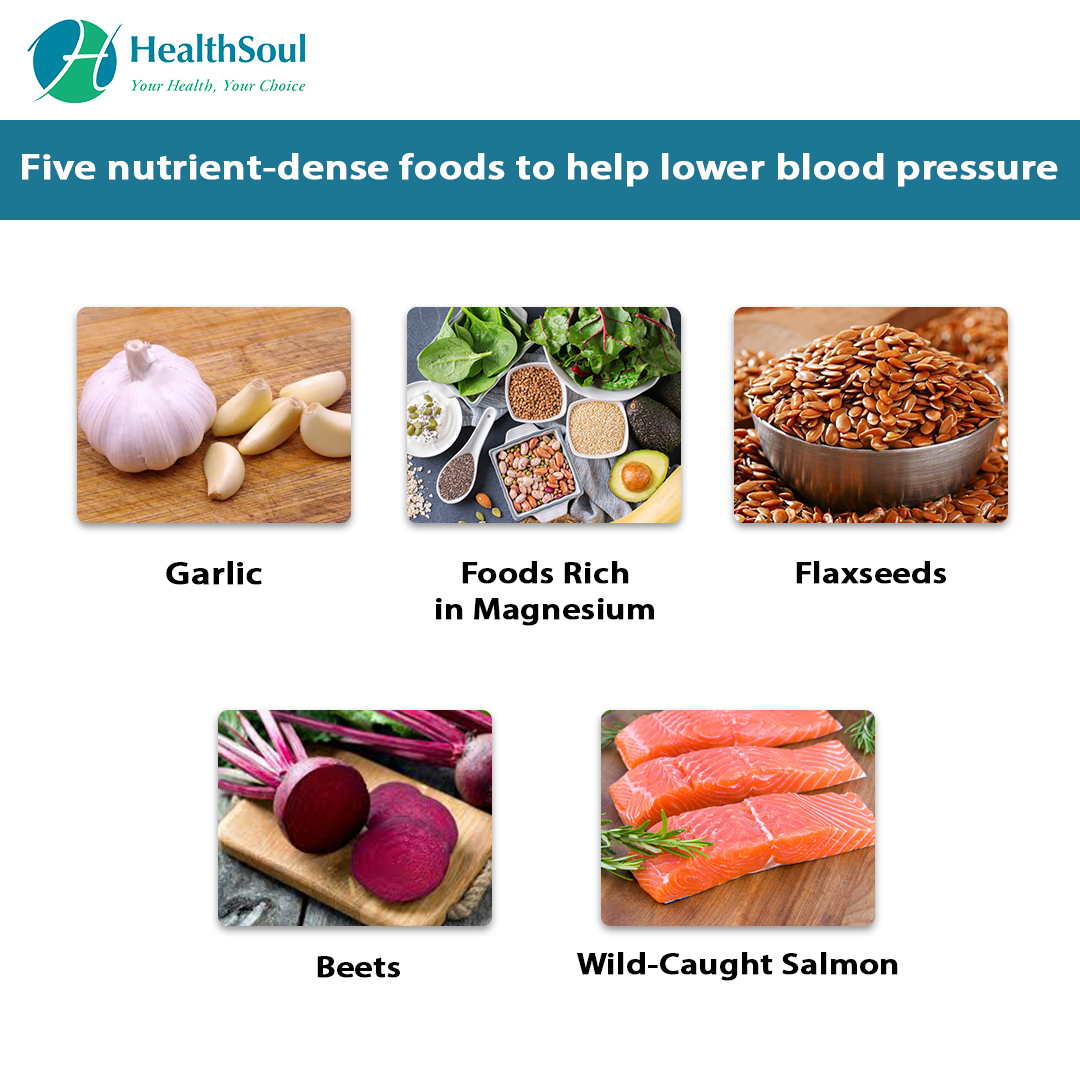 Five nutrient-dense foods to help lower blood pressure