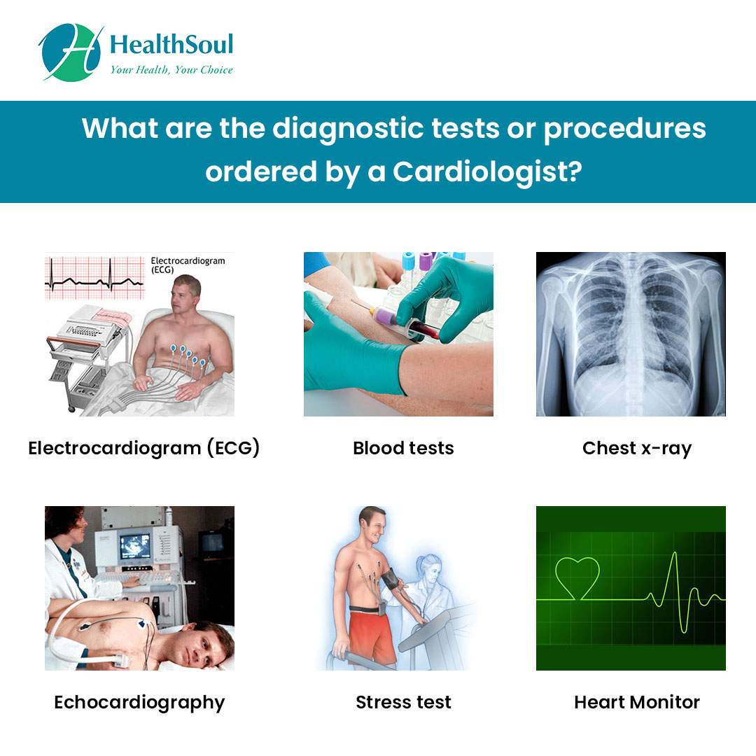 test and procedures done by  Cardiologist?