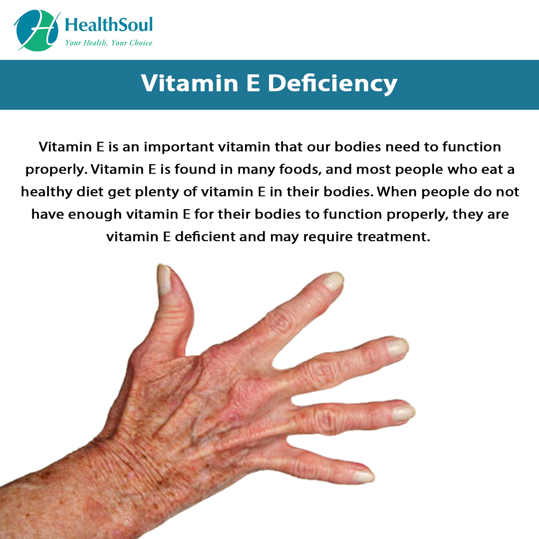 Vitamin E Deficiency Symptoms