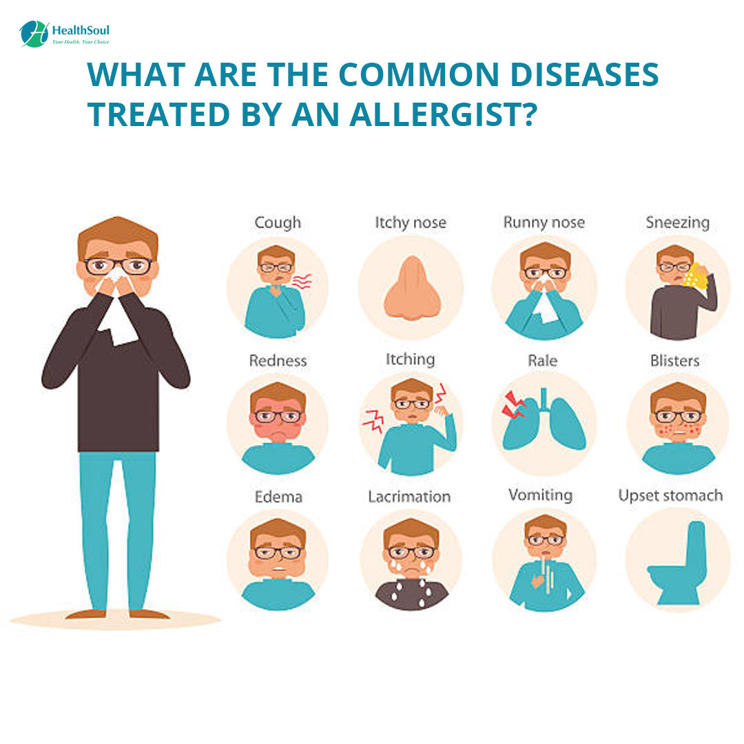 WHAT ARE THE COMMON DISEASES TREATED BY AN ALLERGIST?