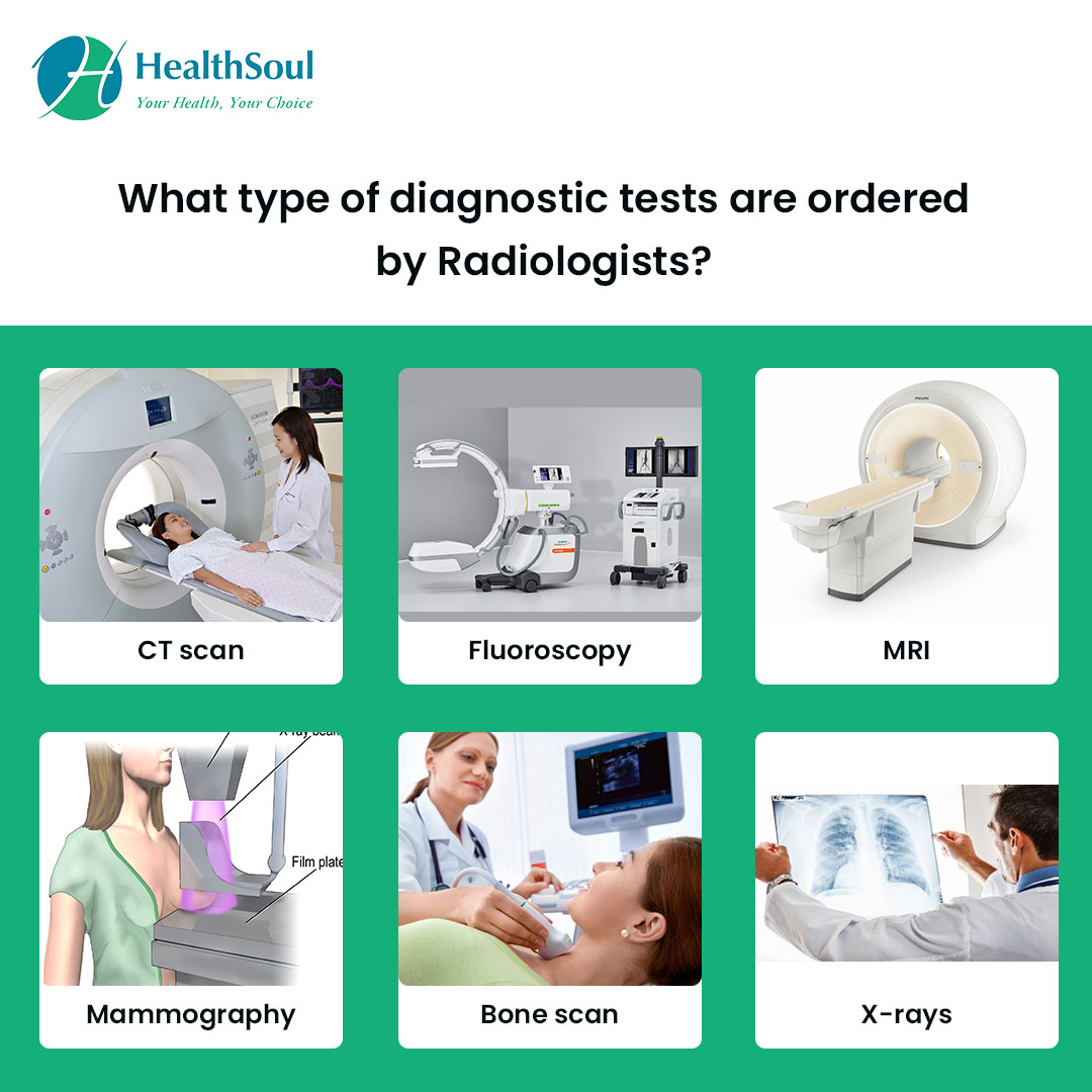What type of diagnostic tests are ordered by Radiologists?