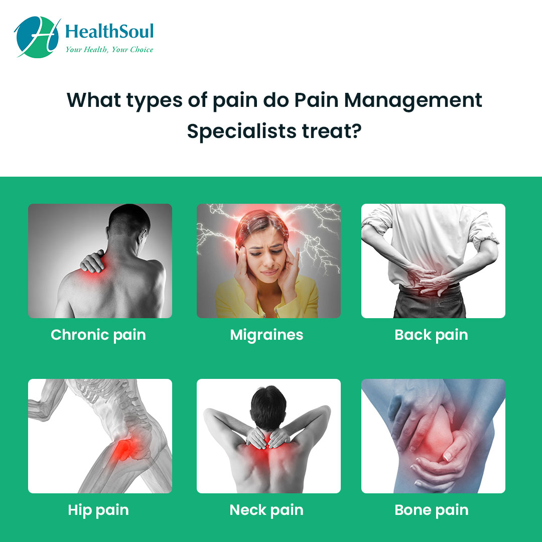 What types of pain do pain Management Specialists treat?